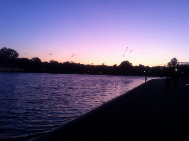 Hyde Park at Sunset