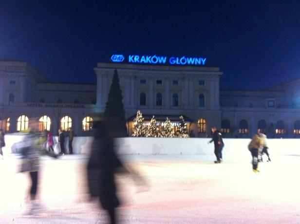 Ice rink at Krakow Glowny